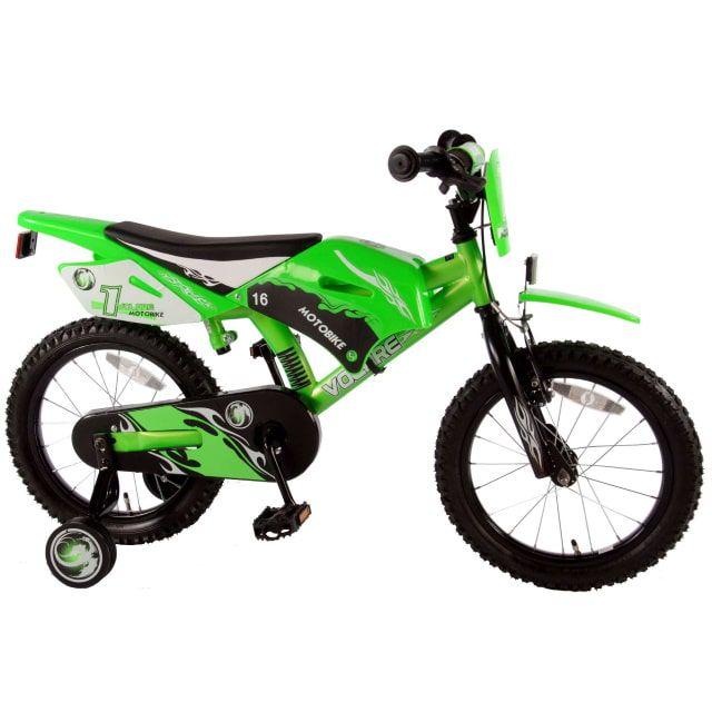 Volare Motobike Kinderfiets Jongens 16 inch Groen