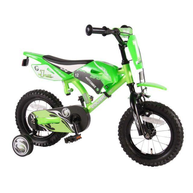 Volare Motorbike 12 inch Groen
