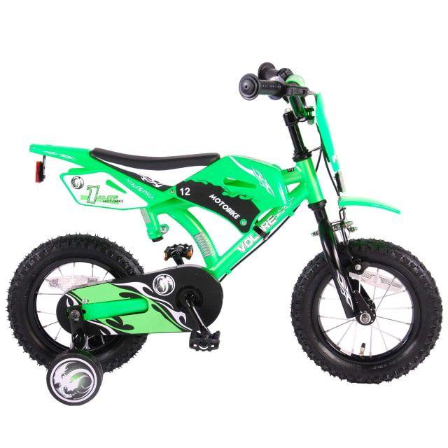 Volare Motorbike Kinderfiets Jongens 12 inch Groen 2 Handremmen