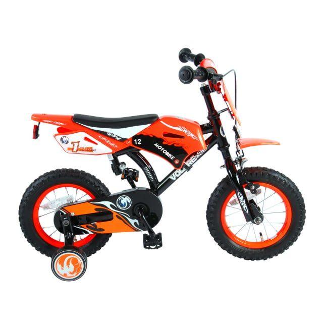 Volare Motorbike Kinderfiets Jongens 12 inch Oranje