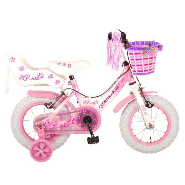 Volare Rose Kinderfiets Meisjes 12 inch Roze 2 handremmen