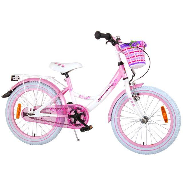 Volare Rose Kinderfiets Meisjes 18 inch Wit Roze