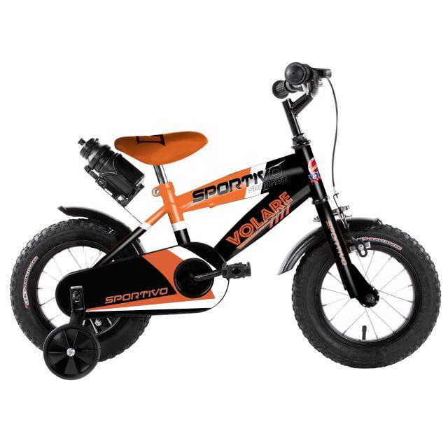 Volare Sportivo Kinderfiets Jongens 12 inch Neon Oranje Zwart
