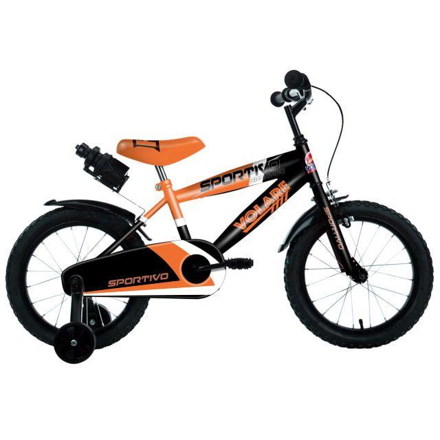Volare Sportivo Kinderfiets Jongens 16 inch Neon Oranje Zwart