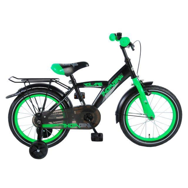Volare Thombike Kinderfiets Jongens 16 inch Satijn Zwart Groen