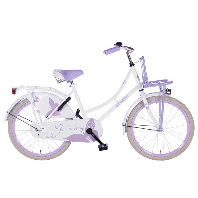 Spirit Omafiets 22 inch Wit Paars