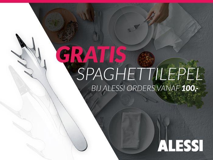 Gratis Alessi Eat.It spaghettilepel bij order vanaf € 100,-