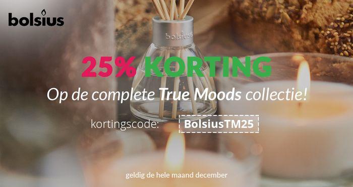 Bolsius True Moods actie