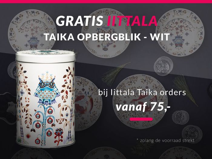 Gratis Iittala Taika opbergblik bij order vanaf € 75,-