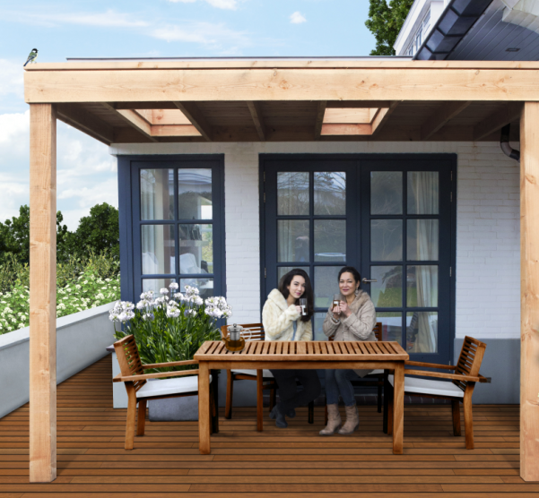 Zelf aanbouw veranda maken luifel overkapping aan woning tips - Veranda met muur ...