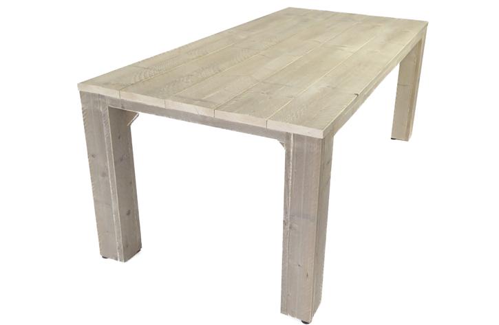 Steigerhouten tuintafel houten eettafel voor buiten op maat for Tuintafel steigerhout bouwpakket