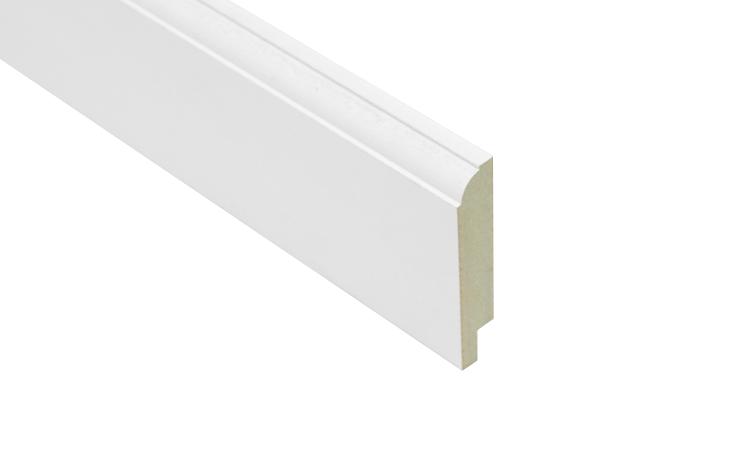 Mdf muur kraalplinten wit gegrond 8 cm hoog plint plafond - Hoog plafond ...