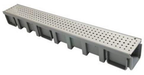 Connecto-100-met-rvs-vierkant-geperforeerd-rooster