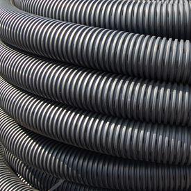 Drainage kaal geperf. 160 mm rol = 50 mtr