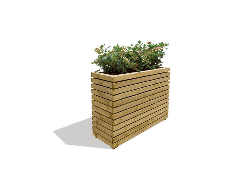 Langwerpige Houten Plantenbakken Voor Buiten.Houten Plantenbakken Kopen Plantenbak Hardhout Pilaar Kubus