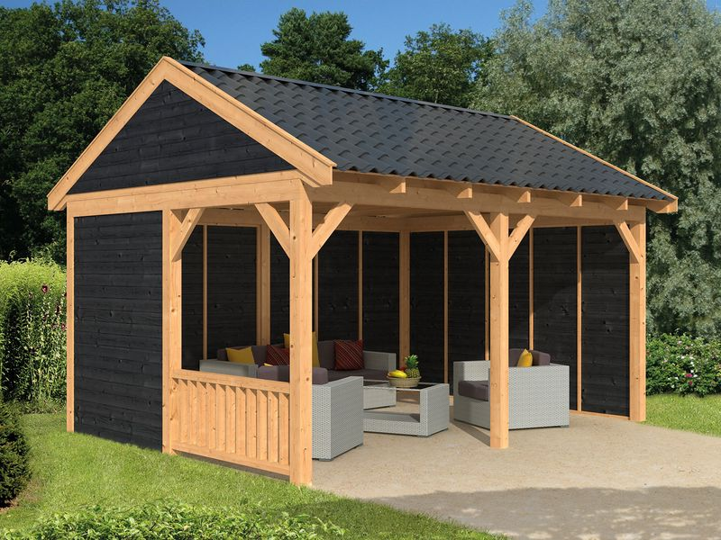 Overkapping In Tuin : Overkappingen van hout bouwpakket terrasoverkappingen kopen