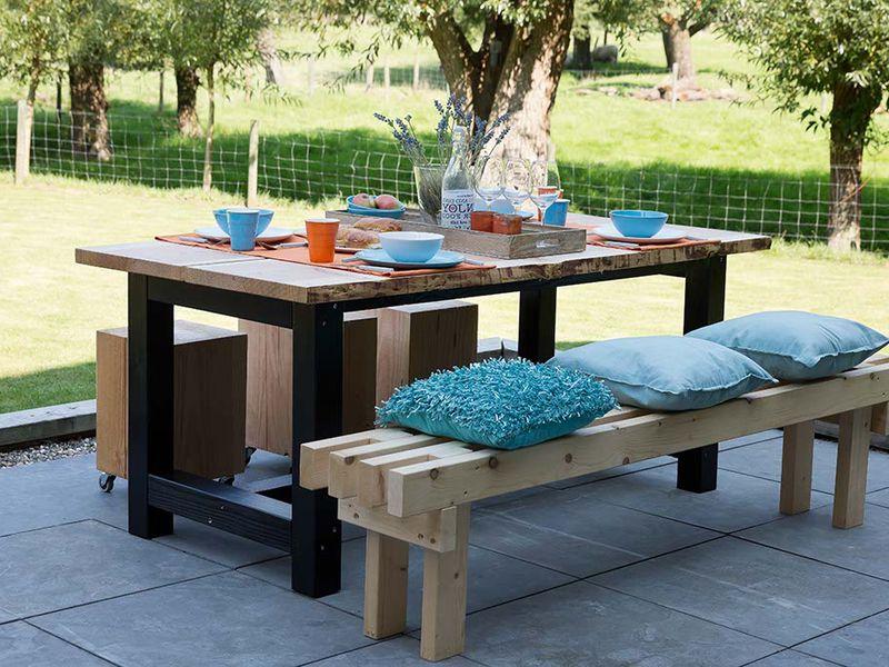 Houten tuintafels hardhout eettafel tot steigerhout tafel