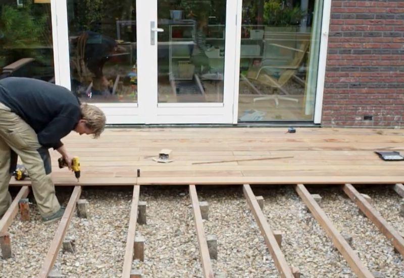 Vlonder Terras Van Hout Hardhout Geïmpregneerd Planken