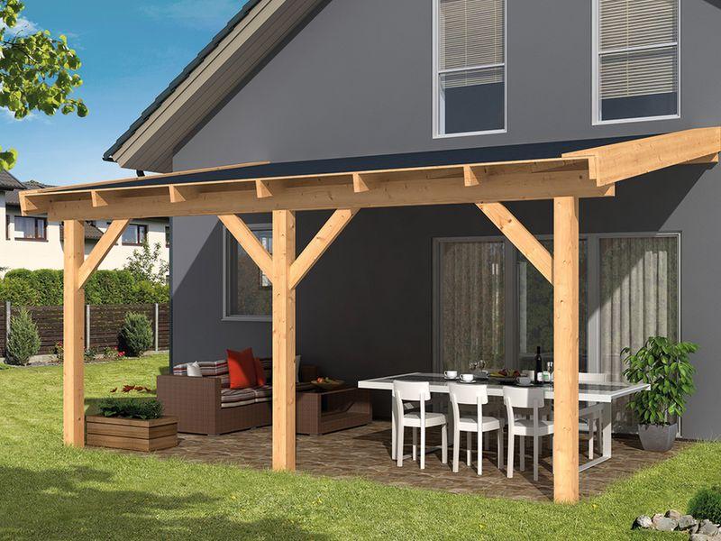 Losse Overkapping Tuin : Overkappingen van hout bouwpakket terrasoverkappingen kopen