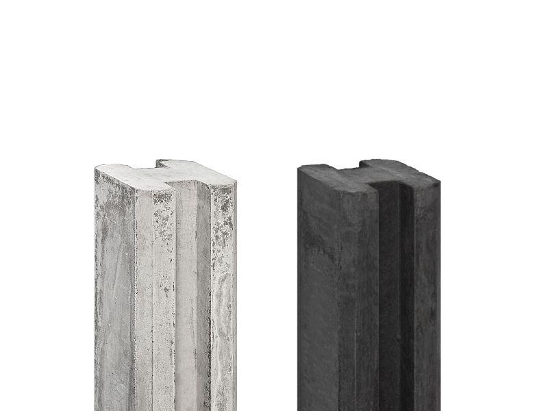 Wandplanken Van Beton : Schutting beton palen betonpalen voor schermen ook met gleuf