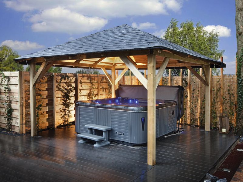 Overkapping Tuin Hout : Overkappingen van hout bouwpakket terrasoverkappingen kopen