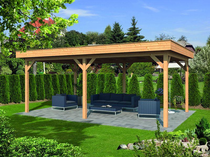 Overkapping In Tuin : Strakke tuin met overkapping gerba groen