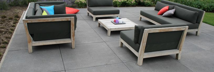 Betontegels Zwart 80x80.Bestrating Kopen Sierbestrating Terras Tegels Oprit Stenen