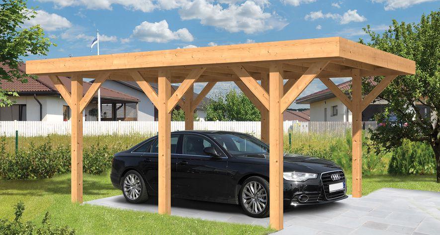 Houten Carport Lemmer 450 x 600 cm Plat Dak - Gadero