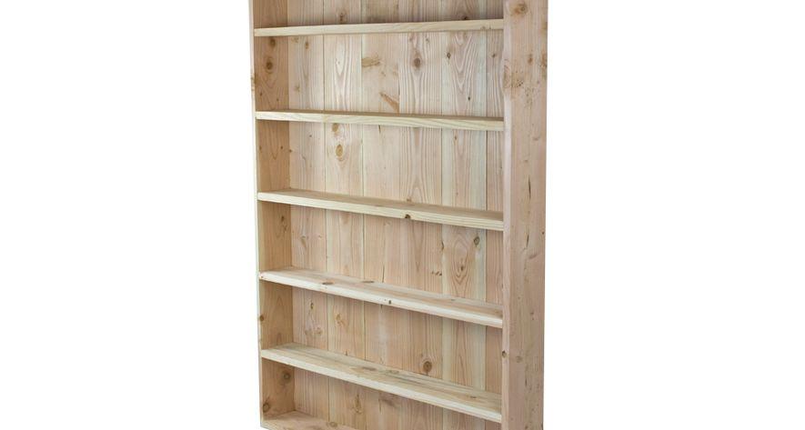 Lariks Douglas houten boekenkast 180 x 120 x 20 cm