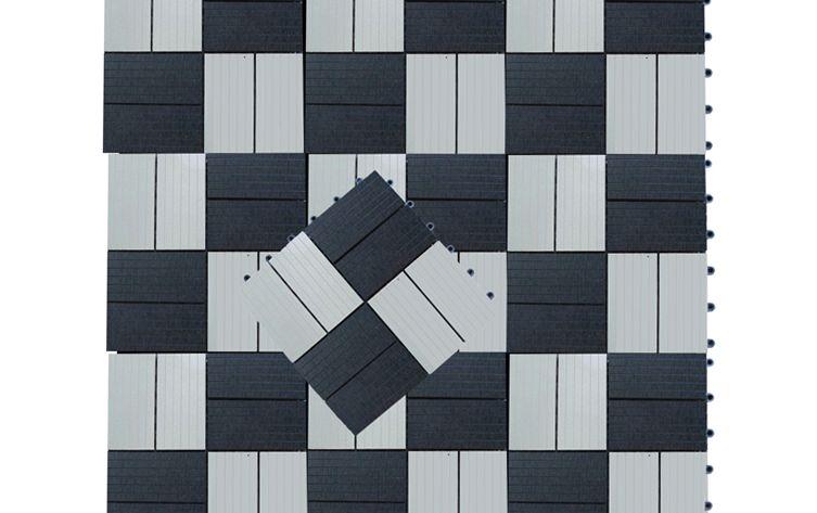 Zwart Wit Tegels : Tuintegel composiet zwart wit cm
