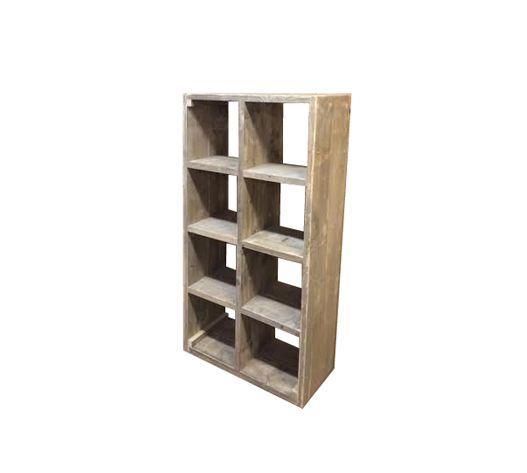 Steigerhouten vakkenkast - boekenkast op maat steigerhout