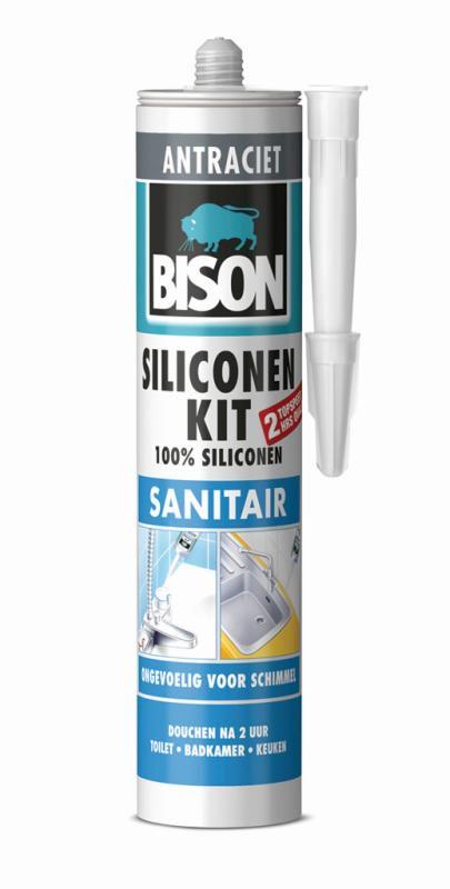 Houten Trap In Badkamer ~ Bison Siliconen Kit Sanitair Antraciet  310 ML  Haxo  Doe Het Zelf