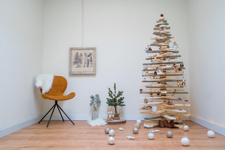 3D houten kerstboom Gadero