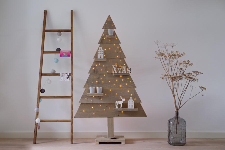 2D kerstboom met LED