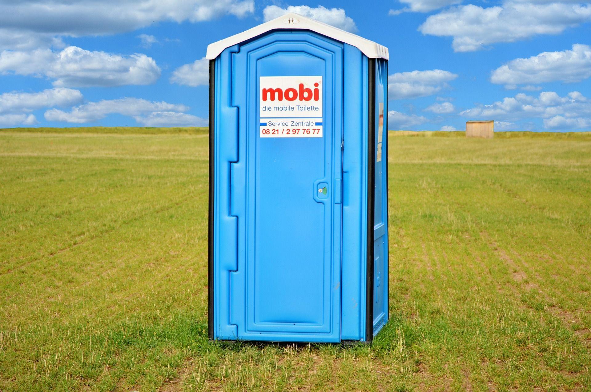 mobiel toilet op de bouw