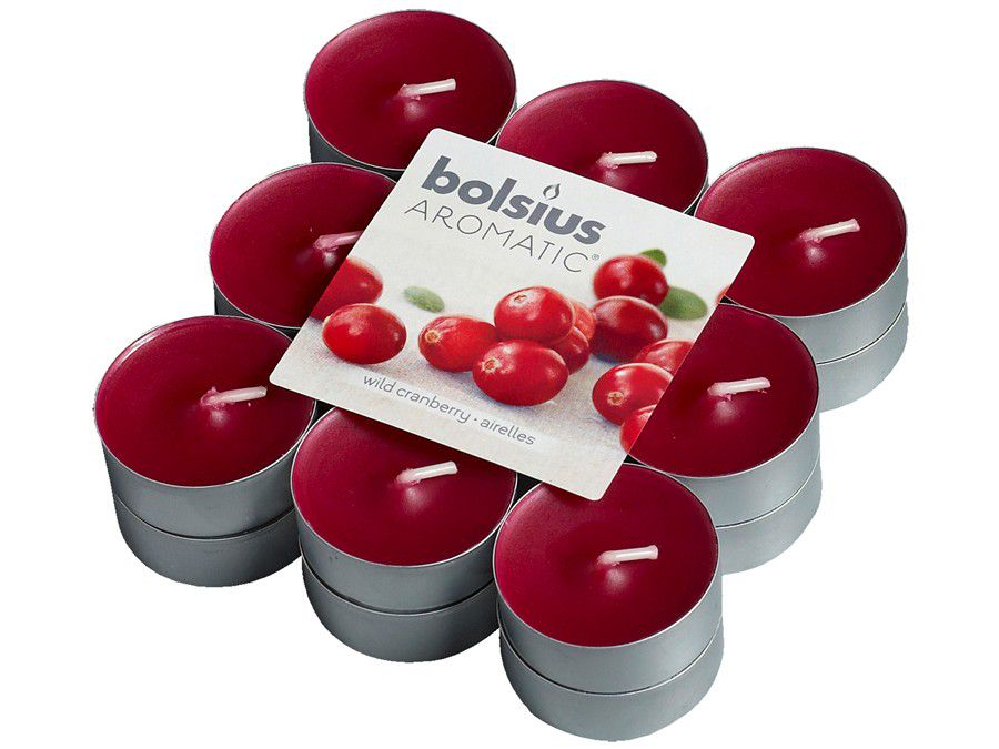 Bolsius geurlichten Aromatic Wild Cranberry - 18 stuks