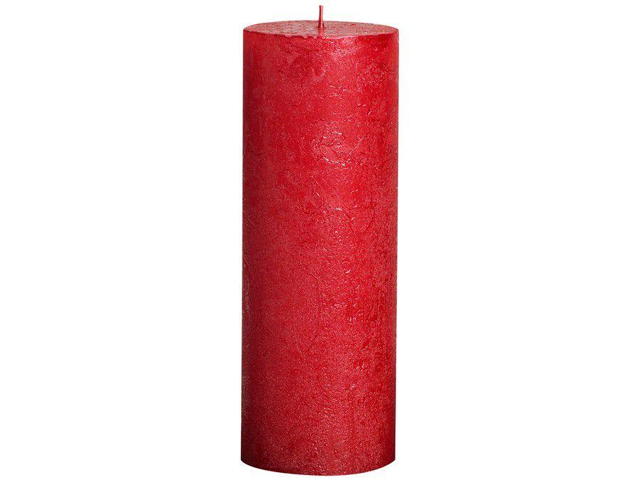 Bolsius stompkaars Metallic rood 190/68 mm