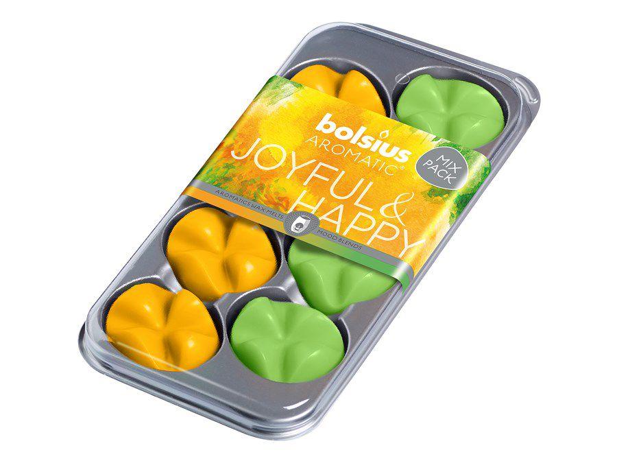 Bolsius waxchips Aromatic Joyful & Happy - 8 stuks