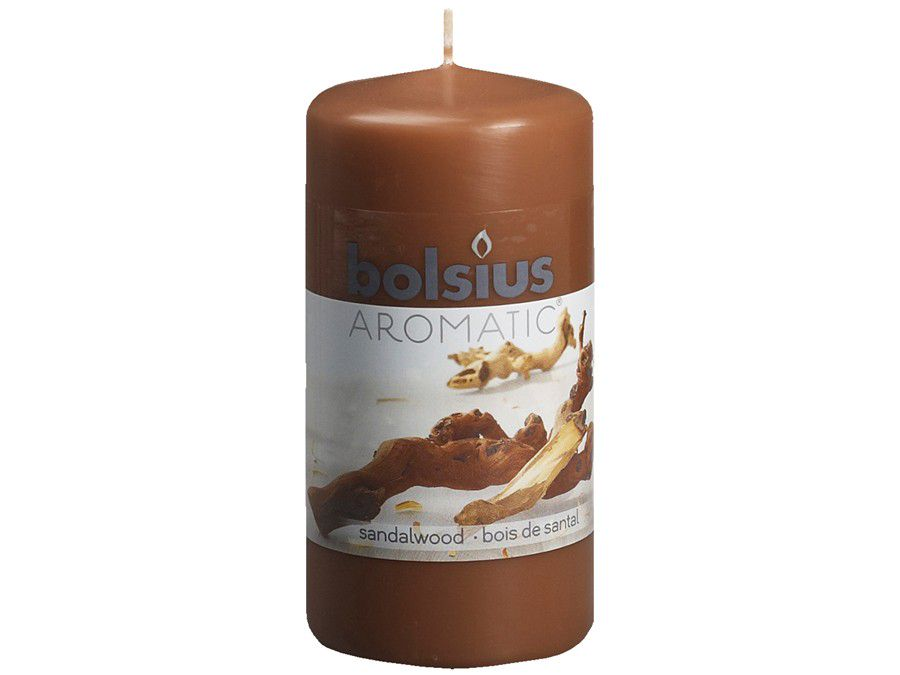 Bolsius stompkaars Aromatic Sandalwood 120/60 mm