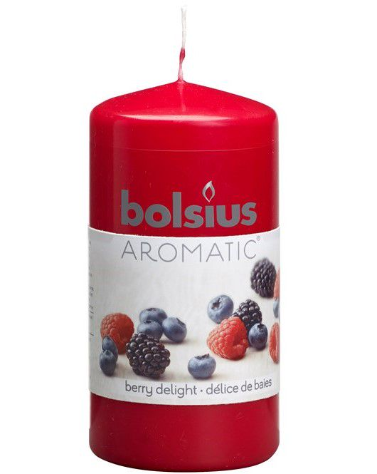 Bolsius stompkaars Aromatic Berry Delight 120/60 mm