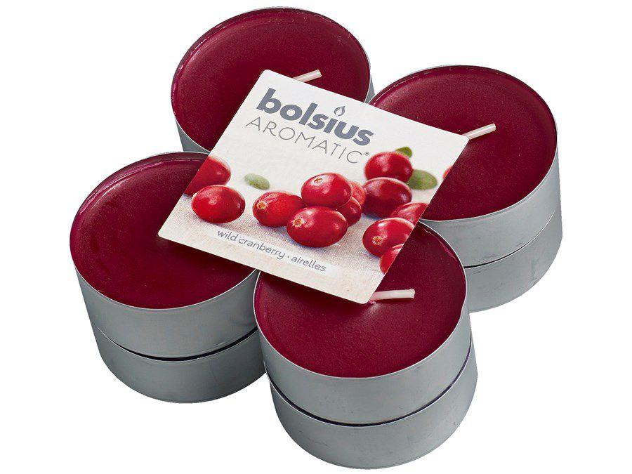Bolsius maxi geurlichten Aromatic Wild Cranberry - 8 stuks