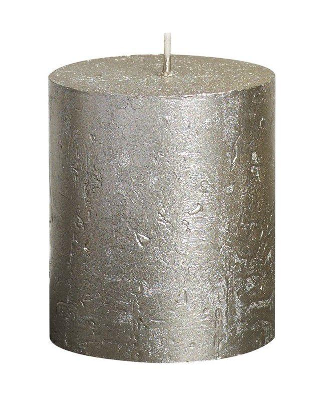 Bolsius stompkaars Metallic champagne 80/68 mm
