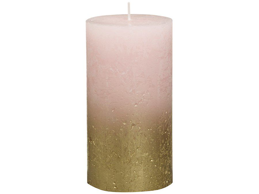 Bolsius stompkaars Fading goud & roze 130/68 mm