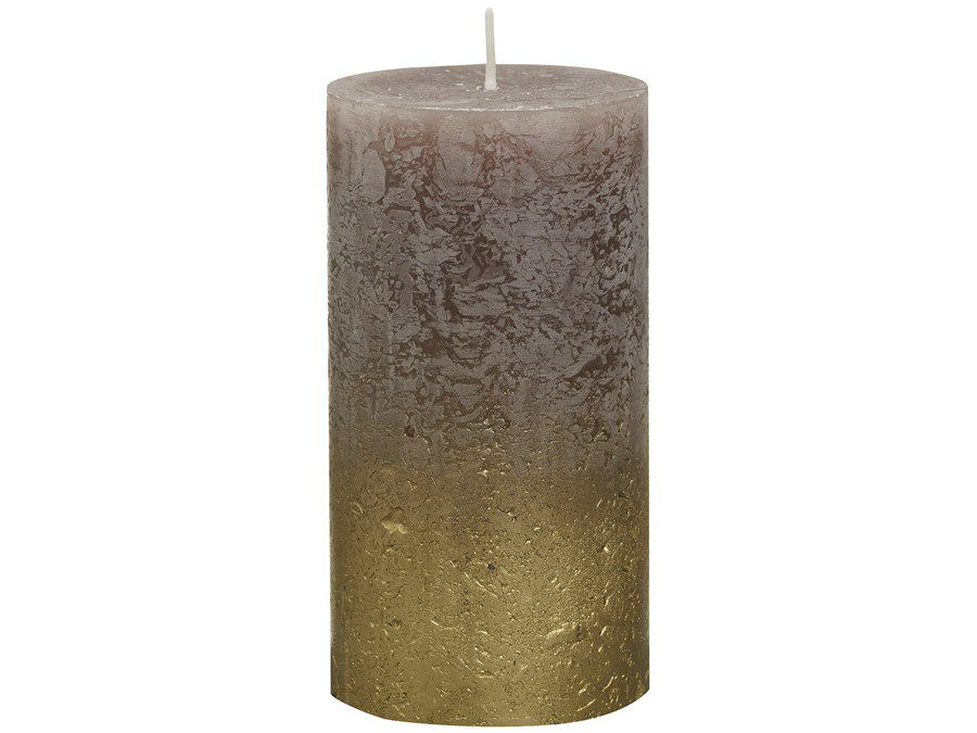 Bolsius stompkaars Fading goud & taupe 130/68 mm