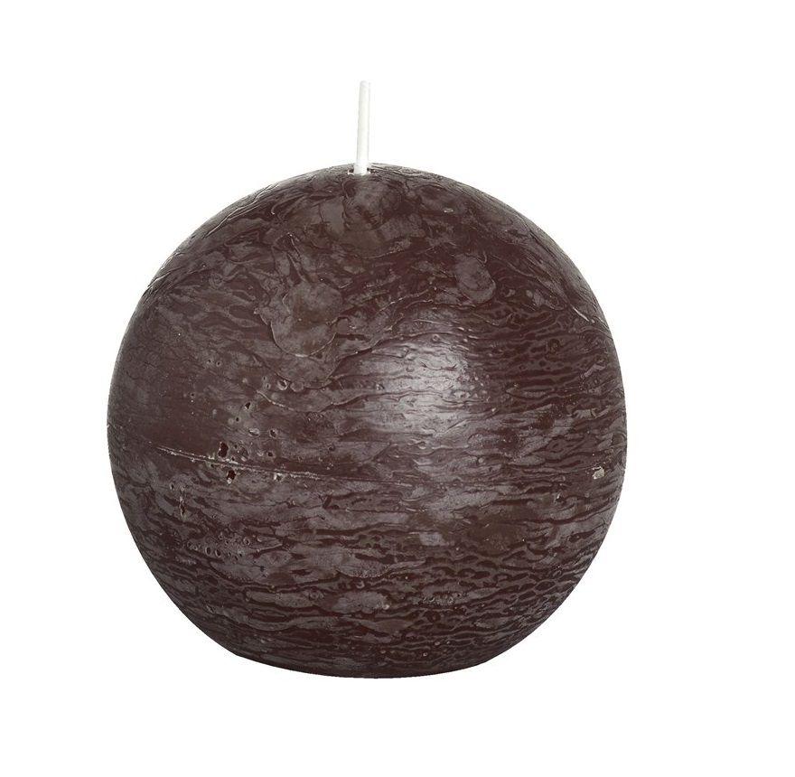 Bolsius bolkaars Rustiek chocoladebruin Ø 80 mm