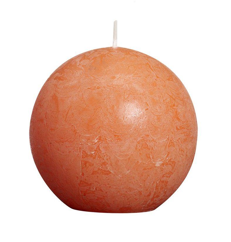 Bolsius bolkaars Rustiek oranje Ø 80 mm