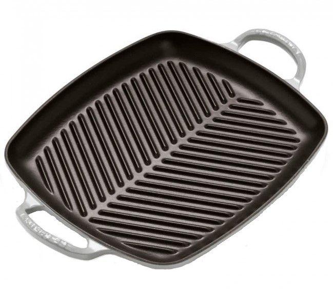 Le Creuset grillplaat rechthoekig grijs 30 x 27 cm