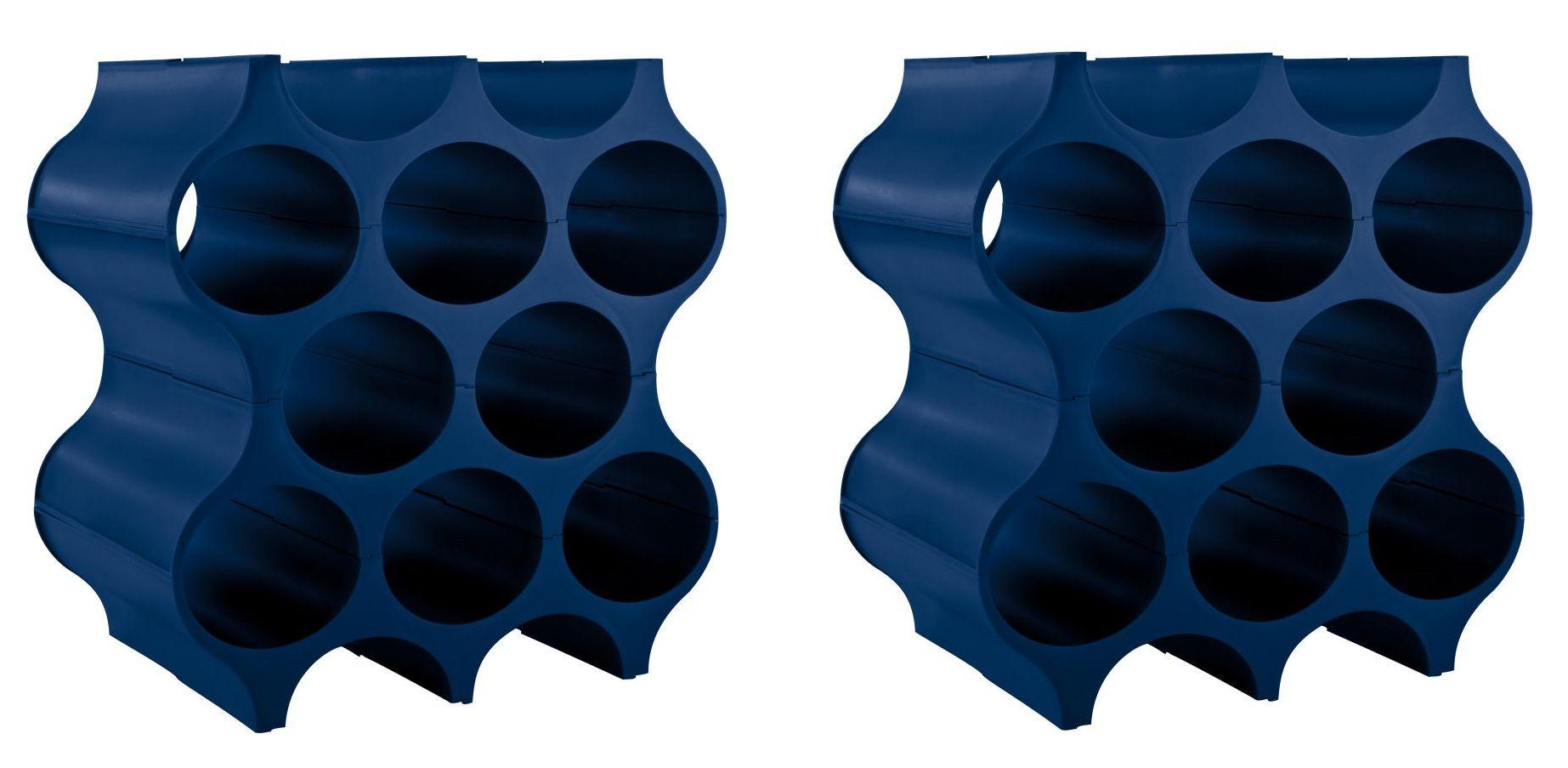Koziol Wijnrekken Stapelbaar Set-Up Blauw - 2 Stuks