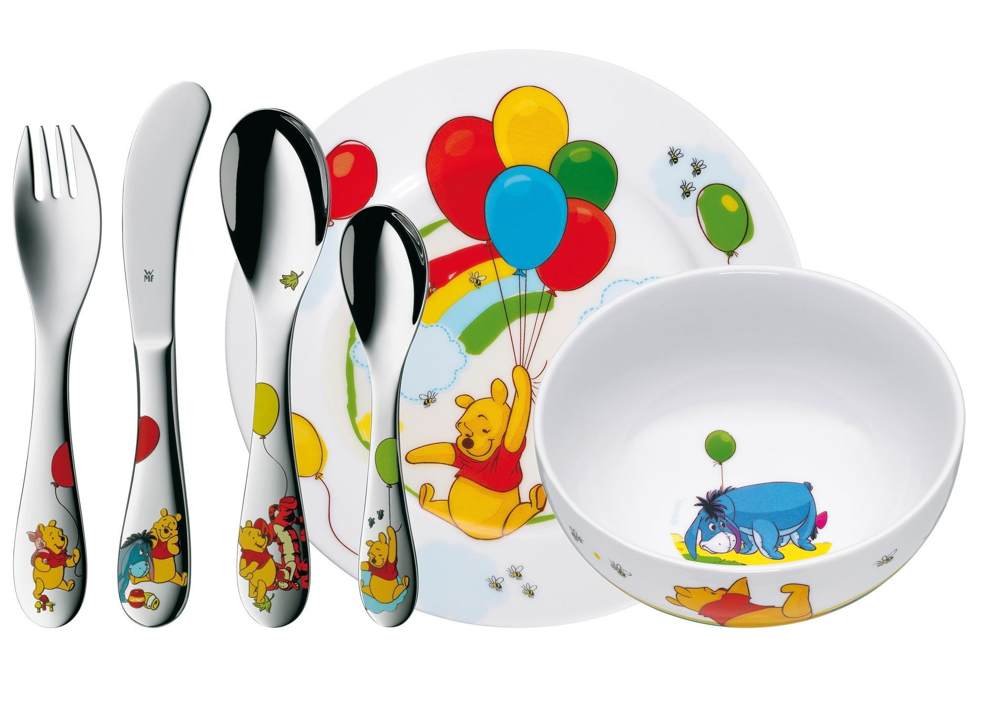 WMF Kinderbestek Kids Disney Winnie de Poeh 6-Delig
