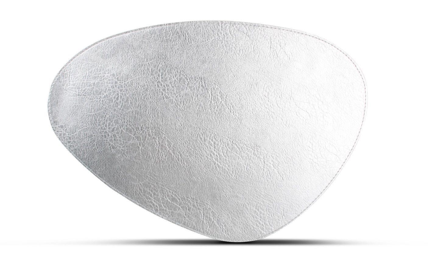 Salt Pepper Placemat Kunstleer Zilver 47 x 32 cm